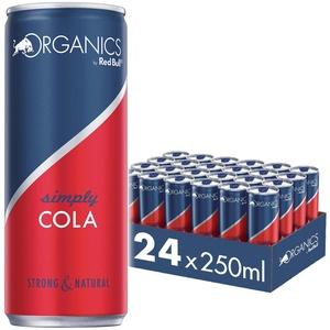 Organics by Red Bull Simply Cola, 24 x 250 ml, Dosen Bio Getränke 24er Palette, OHNE PFAND