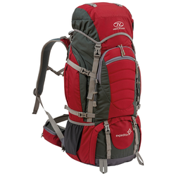 Highlander Rucksack Expedition 65 Liter rot