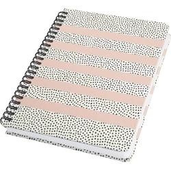 Sigel Jolie® sweet dots JN600 Spiral-Notizbuch Dot-Lineatur (punktkariert) Weiß, Schwarz, Rose Anz