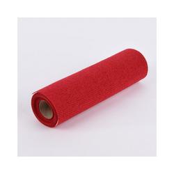 SCHÖNER LEBEN. Tischband Deko Tischband Jute einfarbig rot 30x300cm, Deko Tischband Jute einfarbig rot 30x300cm