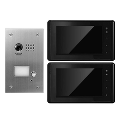Türsprechanlage Gegensprechanlage mit Kamera mit 2 Monitoren 170 Grad