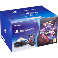 Sony PS4 PlayStation VR + Move Motion Controller (Twin Pack) + Kamera + PlayStation VR Worlds (Bundle)
