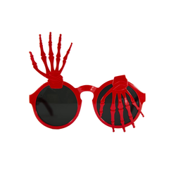 Skelett Hand Brille Spaßbrille Gagbrille Partybrille Sonnenbrille Halloween Party Fasching Karneval rot