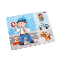 Haba Steckpuzzle Greifpuzzle Polizeieinsatz, Puzzleteile