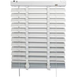 Jalousie Aluminiumjalousie, Liedeco, mit Bohren, mit 50 mm Lamellen weiß 60 cm x 175 cm