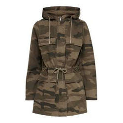 ONLY Camouflage Parka Damen Grün Female XS