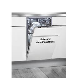 BAUKNECHT vollintegrierbarer Geschirrspüler BSIO 3T223 PE X, X (2), 10 Maßgedecke E (A bis G) silberfarben SOFORT LIEFERBARE Haushaltsgeräte
