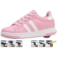 Breezy Rollers 2176242, Rollschuh, Schuhe mit Rollen, 2-in-1 Kinderschuhe, Skateboardschuhe, Sneakers (pink, Numeric_36)