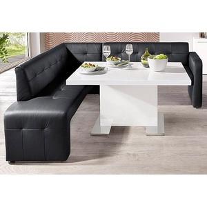 Gala Collezione Eckbank, schwarz, Gestell aus Massiv-Holz, FSC®-zertifiziert