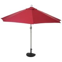 MCW Balkonschirm Lorca-S-270, LxB: 135x145 cm, Optional mit Schirmständer, witterungsfest, Platzsparend zusammenfaltbar rot