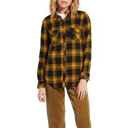 Volcom - Getting Rad Plaid LS Golden Haze - Hemden - Größe: L