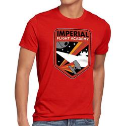 style3 Print-Shirt Herren T-Shirt Imperial Flight sternenzerstörer tie rot XXL