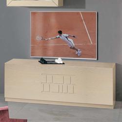 TV Tisch in Esche hell furniert 120 cm breit