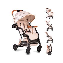 Cangaroo Kinder-Buggy Kinderwagen, Buggy Mini, EVA-Reifen Getränkehalter, Fußsack, klappbar natur