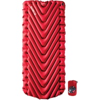 Klymit Unisex's Insulated Static V Luxe Sleeping Pad, Red, One Size