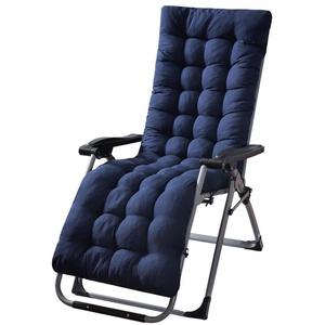 MAODOU Deckchair Sitzkissen, Gartenliege Liegenauflagen Anti-Rutsch-Design für Reisen, Urlaub, Innen, Auße(Ohne Stuhl) Blue 155x48x8cm