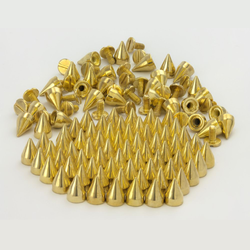 25 x 25 Spitznieten Killernieten Ziernieten Metall Nieten Spikes - gold
