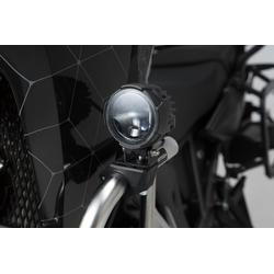 SW-Motech Crash bar klemmen voor verlichting - Zwart. Voor Ø 22/25,4/26/27/28 mm crashbars.