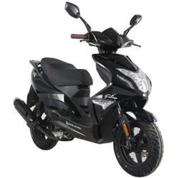 Alpha Motors Motorroller Falcon 50 ccm 45 kmh, schwarz