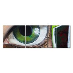 Bilderdepot24 Leinwandbild, Leinwandbild - Street Art Graffiti - Straßenkunst Graffiti 180 cm x 60 cm