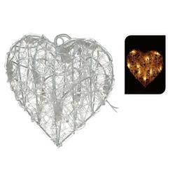 Beleuchtetes Herz aus Acryl - Weihnachtsdekoration Weihnachtsbeleuchtung