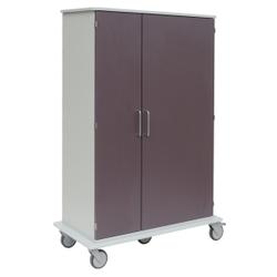 novocal Katheterwagen, Pflegewagen für eine geschützte und übersichtliche Lagerung von Herzkathetern, Maße(BxTxH): 113,2 x 57 x 168 cm, KW02