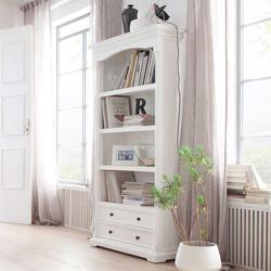 Landhaus Bücherregal in Weiß 100 cm breit