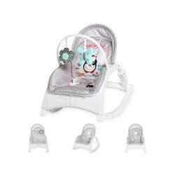 Lorelli Babywippe Babywippe und Stuhl ENJOY, mit Vibration, Musik, verstellbare Rückenlehne grau 50 cm x 63 cm x 66 cm