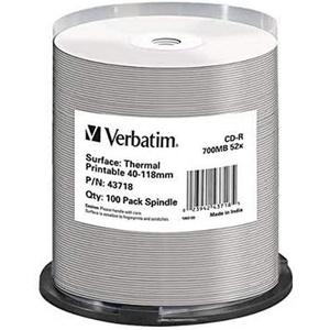 Verbatim CD-R - 700 MB, 52-fache Brenngeschwindigkeit und thermisch bedruckbar, DataLifePlus, 100er Pack Spindel