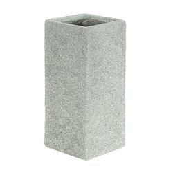Dehner Blumentopf Pflanzvase Rock, Leichtbeton, hellgrau 22 cm x 50 cm x 22 cm