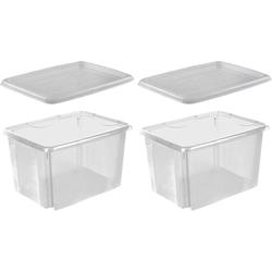 keeeper Stapelbox emil (Set, 2 Stück) weiß