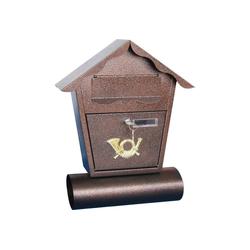HTI-Living Briefkasten Briefkasten mit Zeitungsrolle