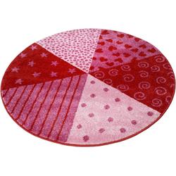 Kinderteppich Canon, Sigikid, rund, Höhe 13 mm rot