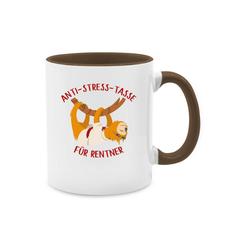 Shirtracer Tasse Anti Stress Tasse für Rentner Faultier - Tasse Berufe - Tasse zweifarbig - Tassen, faultier tassen