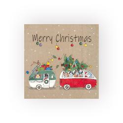 IHR Papierserviette Christmas Camping, (5 St), 33 cm x 33 cm