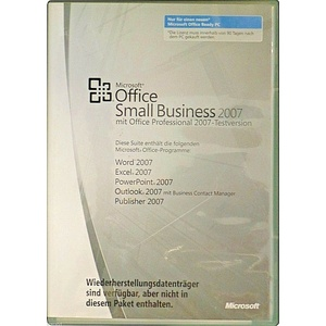 MS OFFICE 2007 Small Business BOX Vollversion Dauerlizenz mit PowerPoint+Outlook