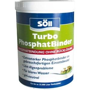 Söll 15322 Turbo PhosphatBinder extraschnell gegen Phosphatspitzen 600 g - sofort wirksames Teichpflegemittel zur schnellen Phosphatbindung und Algenvorbeugung im Gartenteich Schwimmteich Fischteich