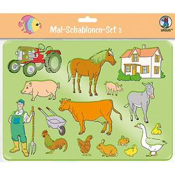 Mal-Schablonen-Set 3 lila-kombi