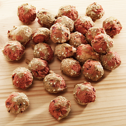 alsa-nature Puten-Bällchen, 250 g, Länge: ca. 2,5 cm, Hundefutter - ca. 2,5 cm