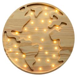 Lampa dziecięca Globusik drewniana