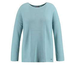 Pullover mit Strickmuster Samoon Cameo Blue