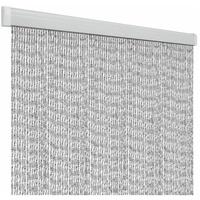 CAGO Türvorhang Rain 6x 19cm, weiß/silber