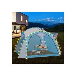 ML-DESIGN Pavillon LED Event Pavillon weiß/blau, 3.5x3.5x2.3 m