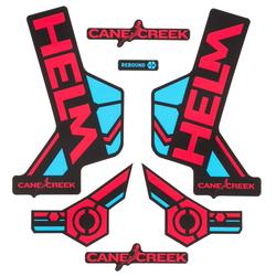 Cane Creek Sticker Kit Helm Rot/Blau