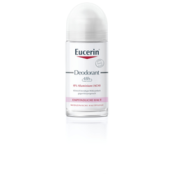 Eucerin Deodorant Roll-on Empfindliche Haut 48h 0% Aluminium