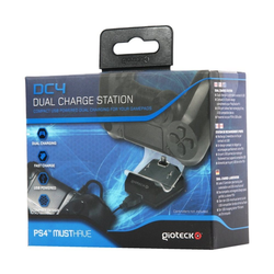 Gioteck Spielekonsolen-Zubehörset Gioteck Dual Charge Station USB Lade-Station Ladegerät für Sony PS4 Controller, (Set), Farbe: Schwarz