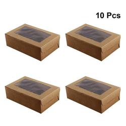 kueatily Cupcake-Maker Packung mit 10 6er Cavity Kraftpapier Cupcake Box / Kuchenträger / Backschachtel, geeignet für Kuchen / Cupcake / Dessert