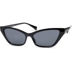 styleBREAKER Sonnenbrille Schmale Retro Cateye Sonnenbrille Getönt schwarz