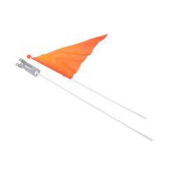 BigDean Sicherheitsfahne Wimpelstange neon orange 113 cm Sicherheitswimpel Kinder Fahne