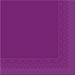 Mank Servietten aus Tissuewatte, 25 x 25 cm, 1/4 Falz, 3-lagig, 1 Karton = 2 x 1200 Stück = 2400 Stück, aubergine
